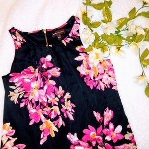 NWOT Dana Buchman Silky Floral Shift Dress Medium